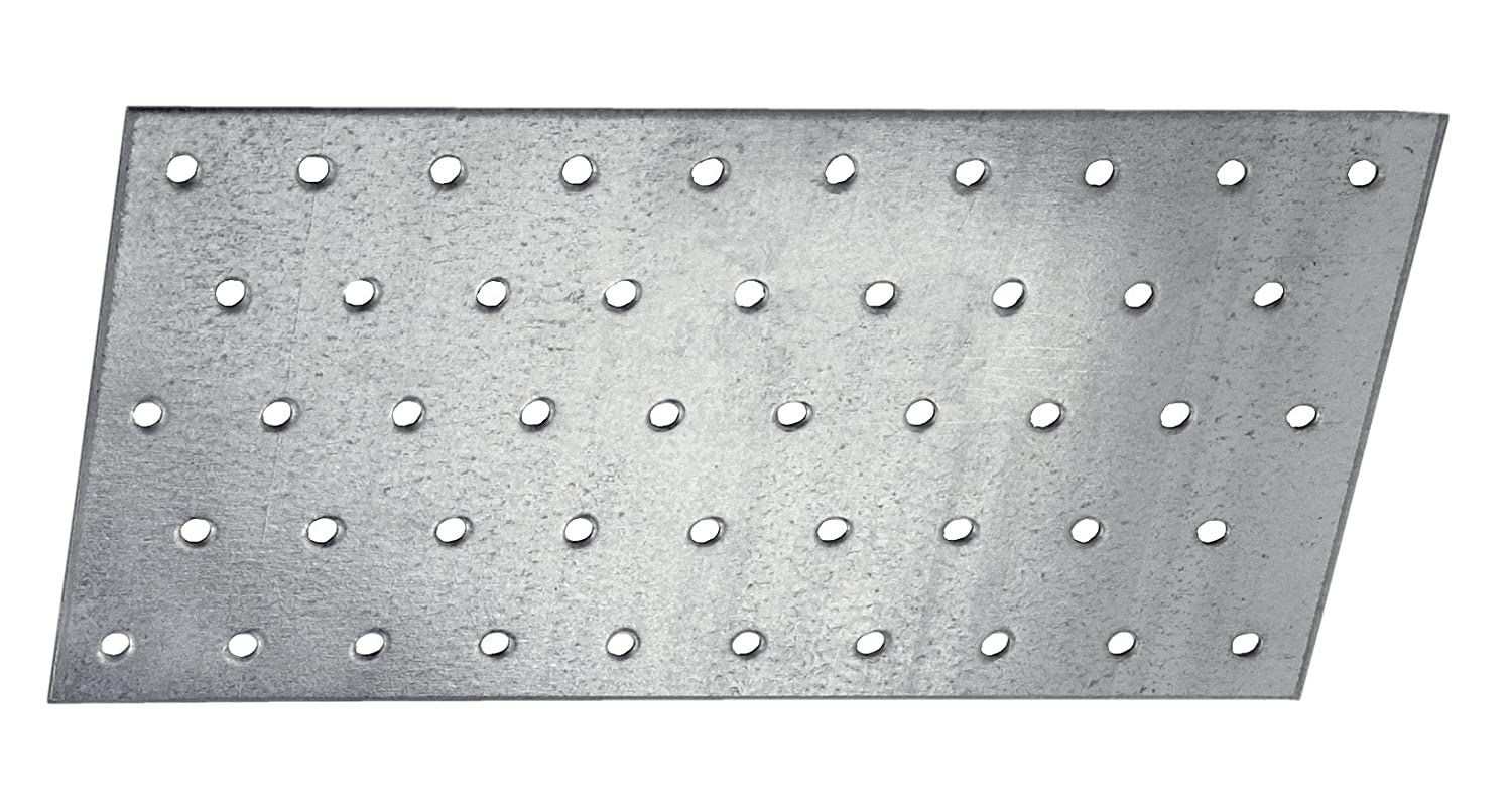 CONNEX HVG2030 60 x 140 x 2mm Long Perforated Plates (25 Pieces) Conmetall