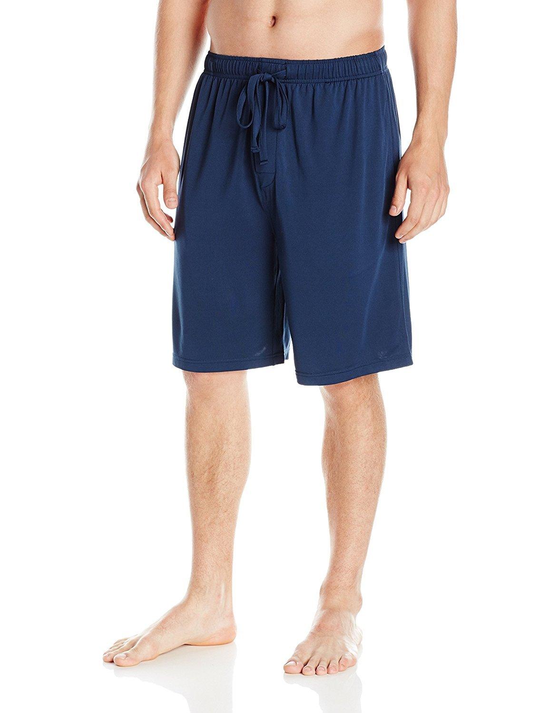 SGNOIEY Men's Sleep Shorts,100% Cotton Knit Sleep Shorts & Lounge Wear-Blue M