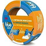 3M ScotchBlue Ruban Masquage pour Surfaces Délicates 36mm x 50m 1 Rouleau Bleu