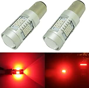 Alla Lighting Xtremely Super Bright 1157 BAY15D 7528 LED Red Bulbs High Power 3035 SMD for Turn Signal Brake Tail Light