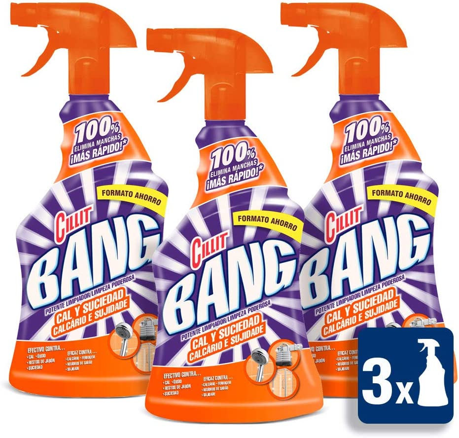 Cillit Bang Cal & Suciedad Limpiador Spray - Pack de 3 x 750 ml ...