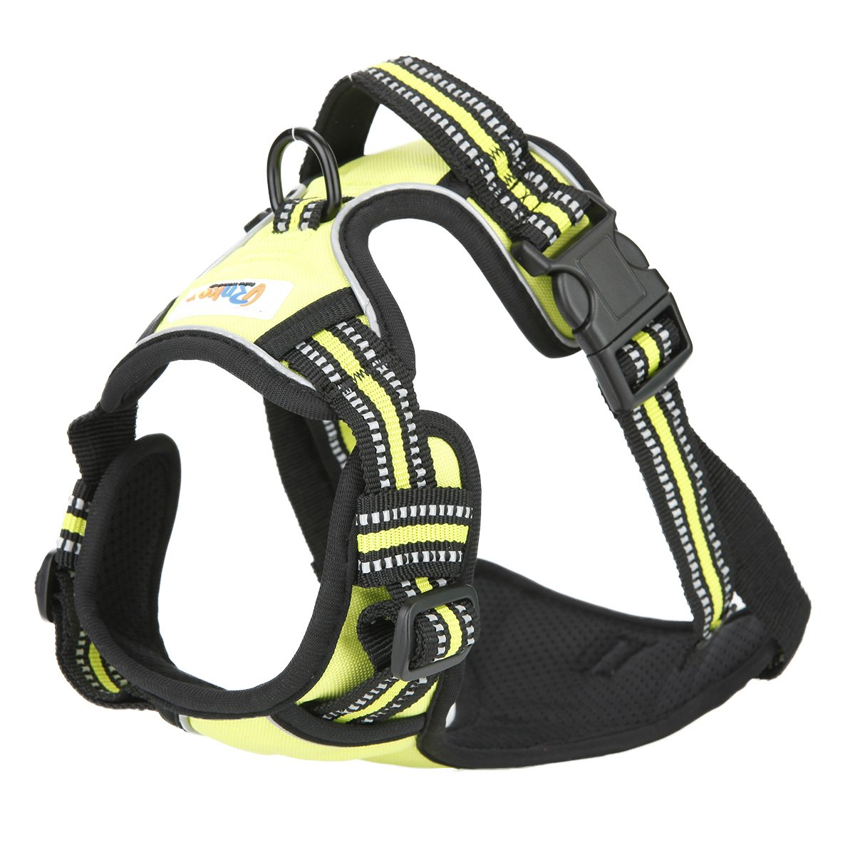 Rnker Front Range Dog Harness, 3M Reflective Outdoor Pet Vest with Handle and Leash Attachments for Small Dogs (Green)
