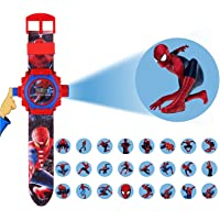 ROJILL Spiderman 24 Image Projector Watch Gift For Kid