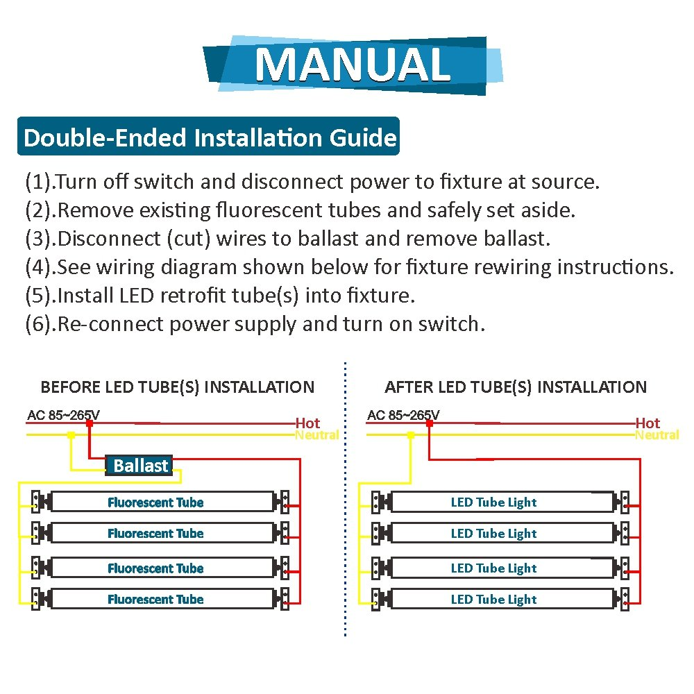 T8 Led Fixture Wiring Diagram Schematic Library