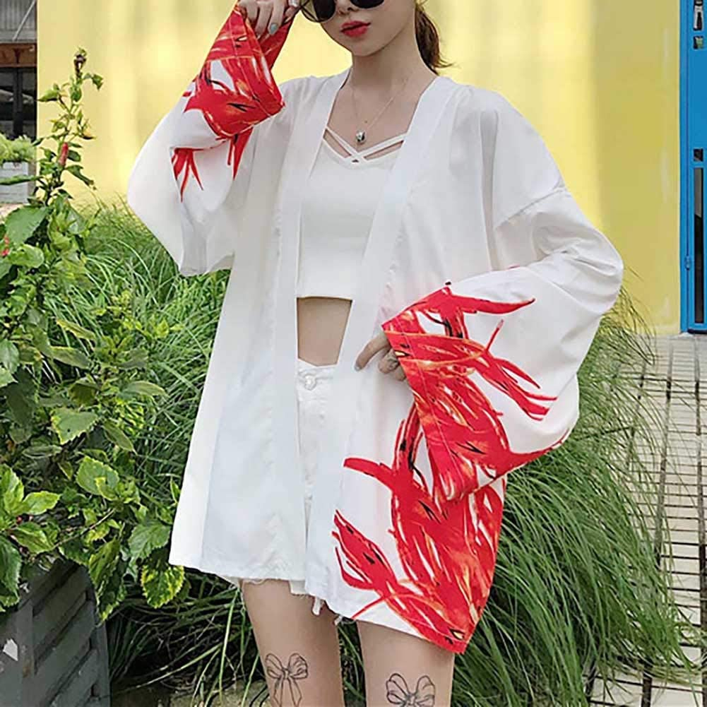 Japanese Kimono Cardigan Chinese Phoenix Yakuza Kimono Jacket Costume Mens Shirts Streetwear Hip Hop Outerwear