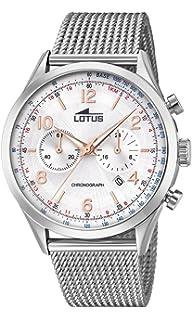 Cuarzo Reloj Lotus Acero Para Hombre Correa De Con En Cronógrafo shdxQrCt