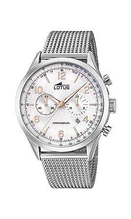 c0375dba3bf5 Lotus Watches Reloj Cronógrafo para Hombre de Cuarzo con Correa en Acero  Inoxidable 18555 1  Amazon.es  Relojes