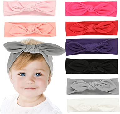 Baby Headbands Turban Hat Bow Hair Bands Kids Infant Beanie Cap HOT Accessories