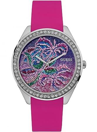 Guess Reloj Analogico para Mujer de Cuarzo con Correa en Silicona W0960L1: Amazon.es: Relojes