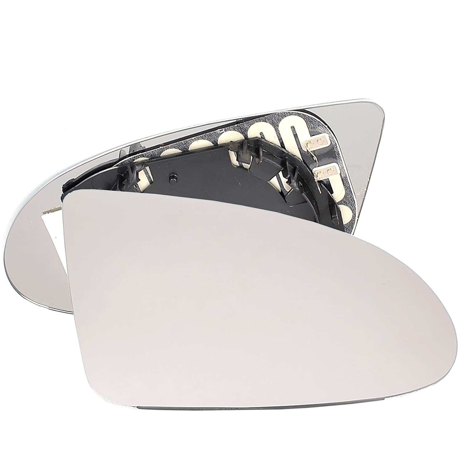 Driver right hand side Heated wing door Silver mirror glass with backing plate #C-SHY//R-AIA200 Clip On