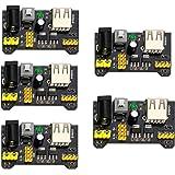 GeeBat MB102 Breadboard Power Supply Module 3.3V/5V for Arduino Board Solderless Breadboard (Pack of 5pcs)