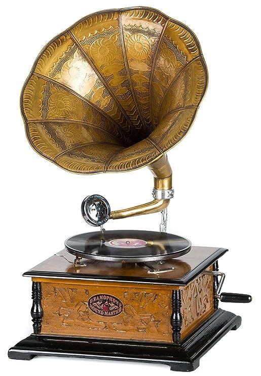 Gramófono Estilo Antiguo con bocina - para Discos de 78 RPM ...