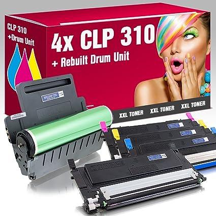 4 Tóner Reciclado + CLT de Carga de K409/CLT-R409 para Samsung CLP ...