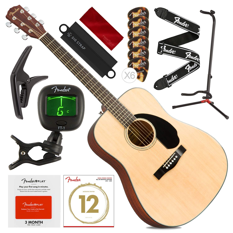 Fender CD-60S - Guitarra acústica para diestros Dreadnought ...