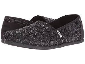 TOMS Women's Seasonal Classics Black Sequin Glitz Loafer 8.5 B (M)