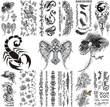 CARGEN® 12 hojas Tatuaje temporal Brazo Tatuajes falsos Body Art ...
