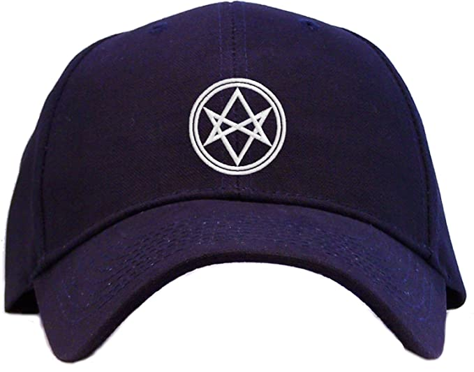 Men Of Letters Aquarian Star Symbol Embroidered Baseball Cap Navy