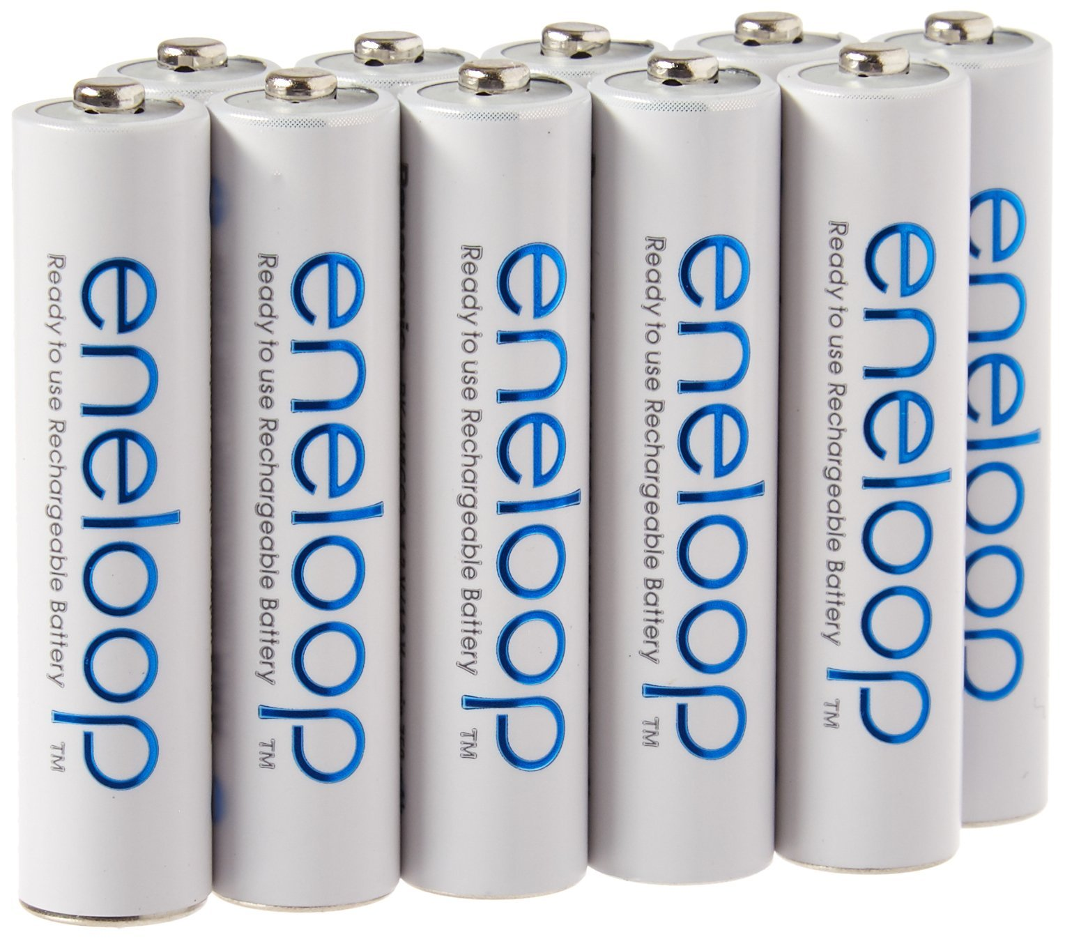 Eneloop TS-9RO6-4EQX AAA 4th Generation 800mAh Min. 750mAh NiMH Pre-Charged Rechargeable Battery with Holder Pack of 10