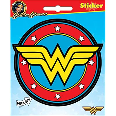 "Ata-Boy DC Comics Wonder Woman Logo 4"" Full Color Sticker"
