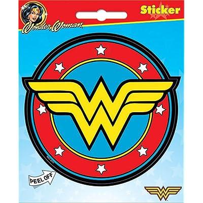 "Ata-Boy DC Comics Wonder Woman Logo 4\"" Full Color Sticker [5Bkhe2005933]"
