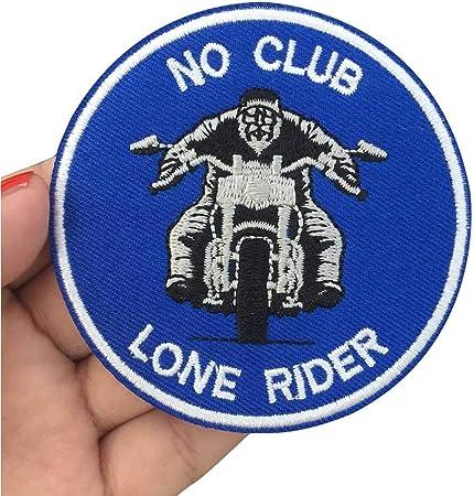 Parche bordado para planchar, 3 piezas de etiquetas de costura, parches punk para moto, ropa, pegatinas, accesorios, insignia. NO CLUB LONE RIDE: Amazon.es: Hogar