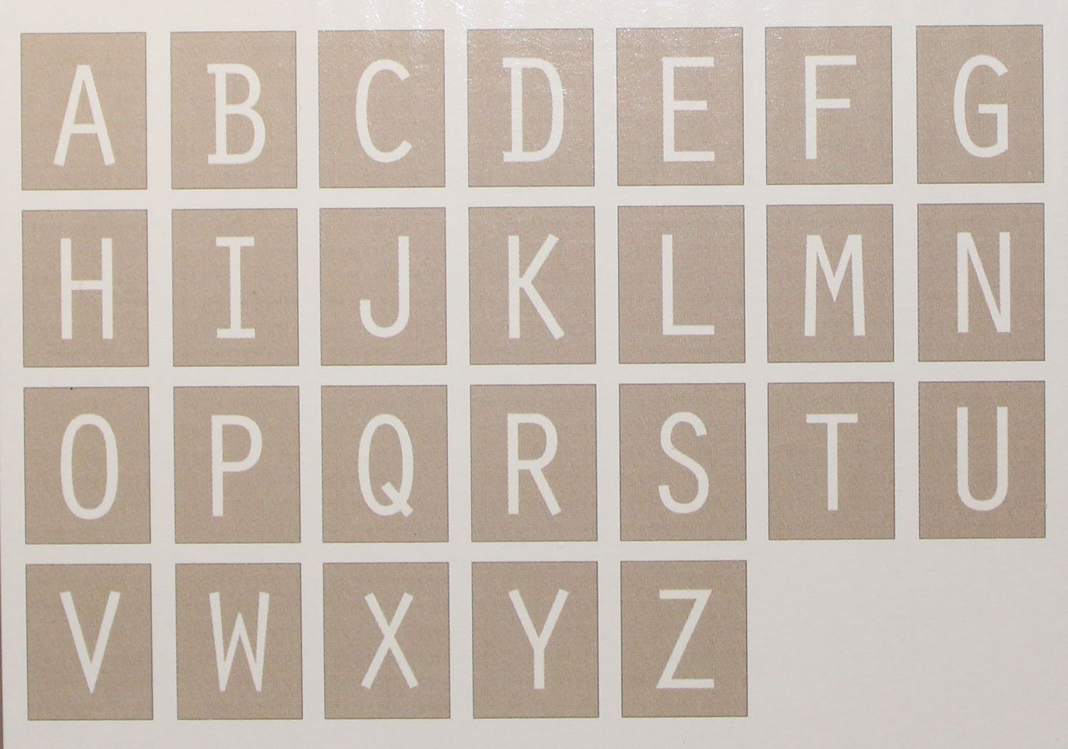 Aqua Framed White on Taupe Hanging Wall Letters, All 26 Letters Included by The Peanut Shell (Image #2)