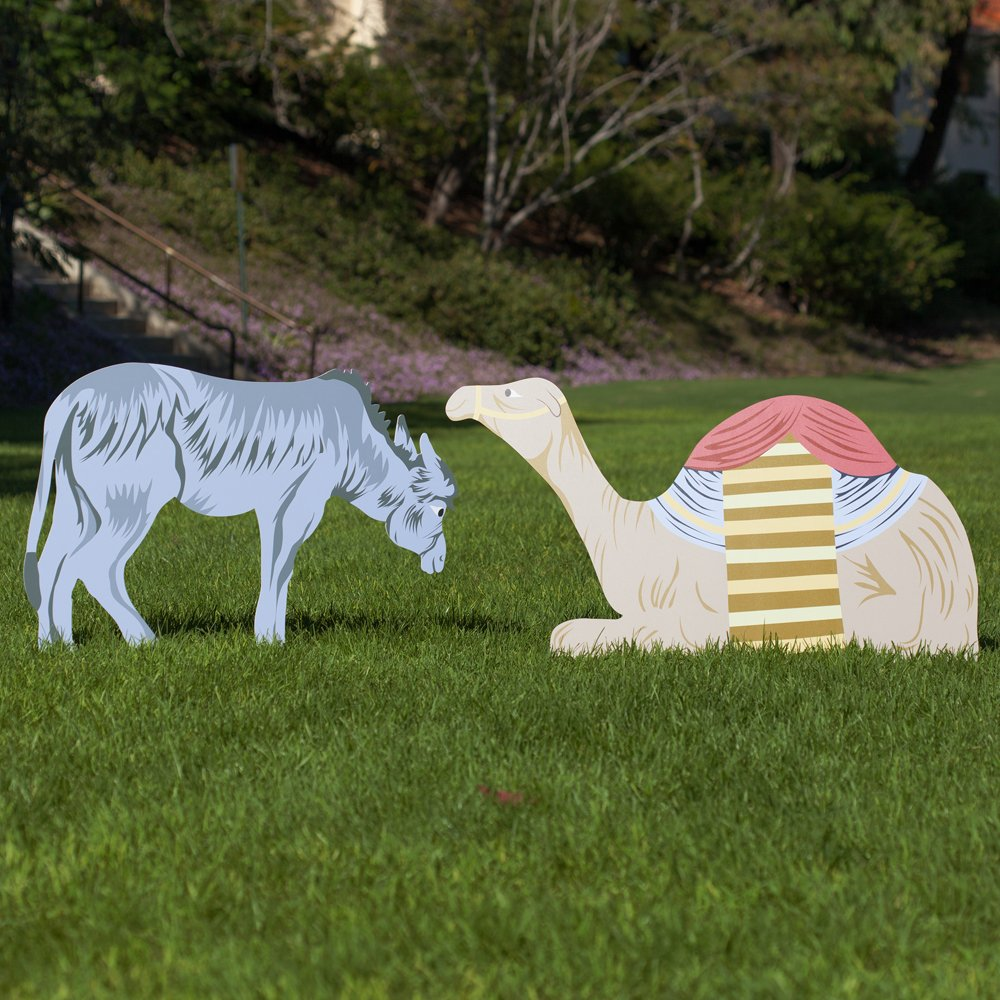 Outdoor Nativity Store Classic Outdoor Nativity Set - Donkey and Camel Scene (Large Size)