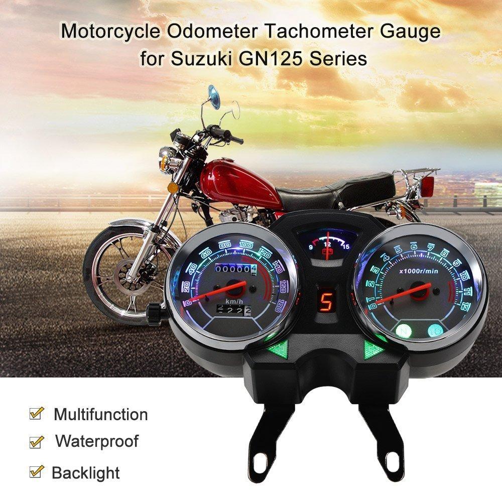 Buy Kkmoon Motorcycle Backlight Odometer Digital Speedometer Suzuki Tach Gauge Wiring Diagram Tachometer For Gn125 Series Online At Low Prices In India