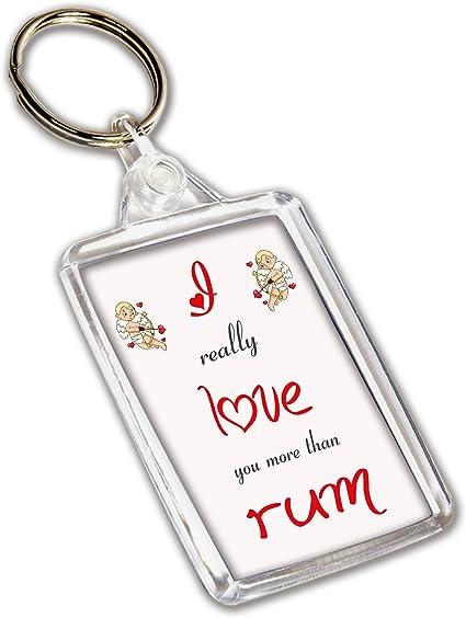I Love llavero con diseño de Ron – día de San Valentín ...