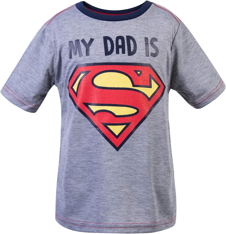 Superman Mi papá es Camiseta para niños pequeños: Amazon.es: Ropa y accesorios