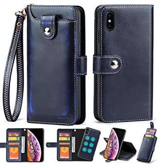 Amazon.com: Nuoku - Funda tipo cartera para iPhone XS Max ...