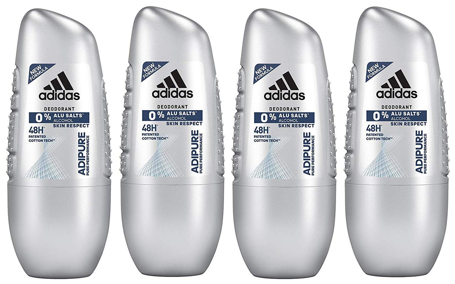 6 x 150ml Adidas Adipure 48H Deo Deospray Herren Deodorant