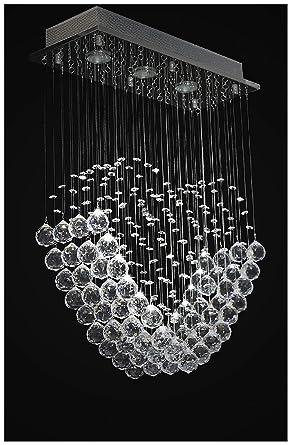 Dst Cuore Moderno Trasparente Gioiello Di Cristallo Di Goccia Della