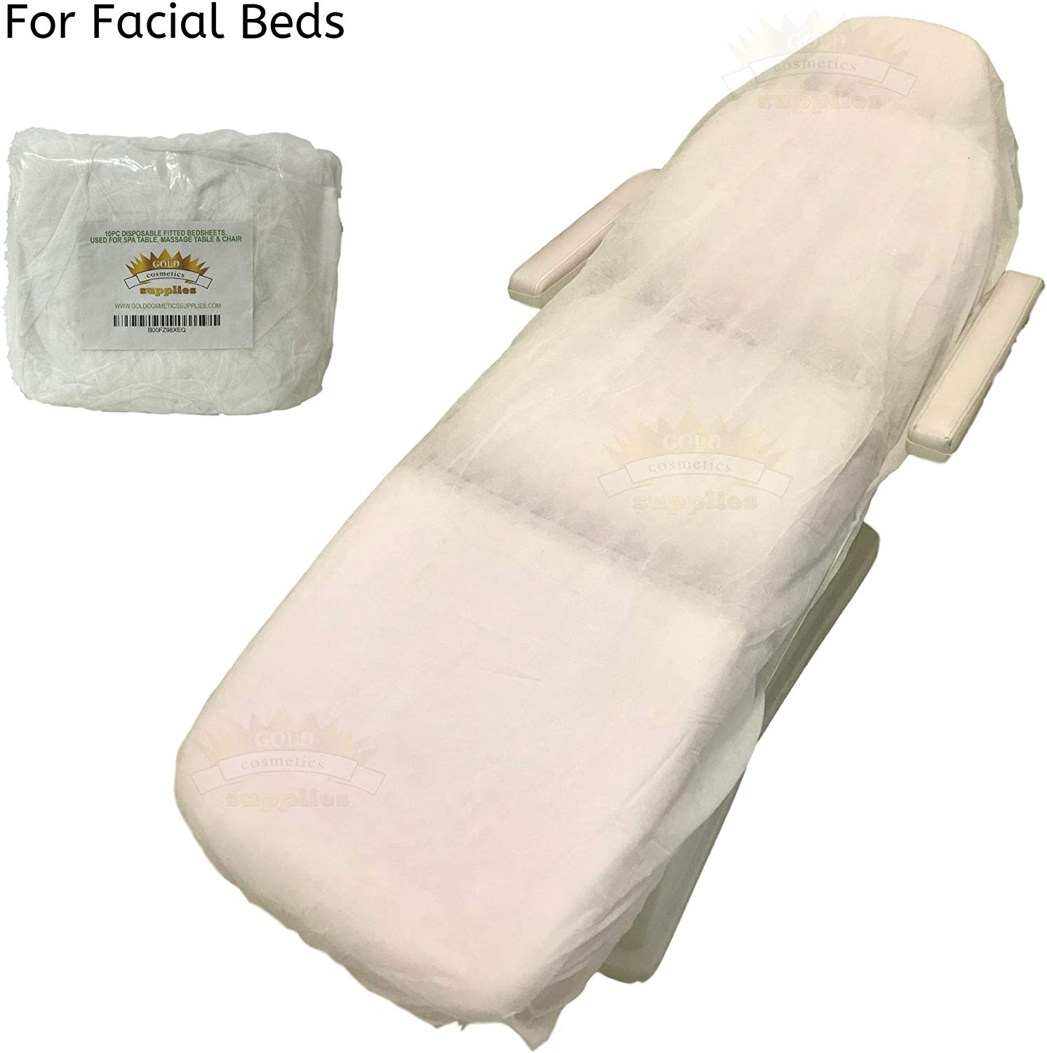 100 Ct. White Disposable Elastic Fitted Bett Sheets für Cover Massage Table Facial Chair Spa