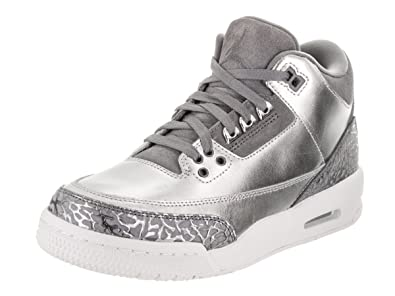 8debd76dfc2e Jordan Nike Women s Air 3 Retro Prem HC Metallic Silver Cool Grey Basketball