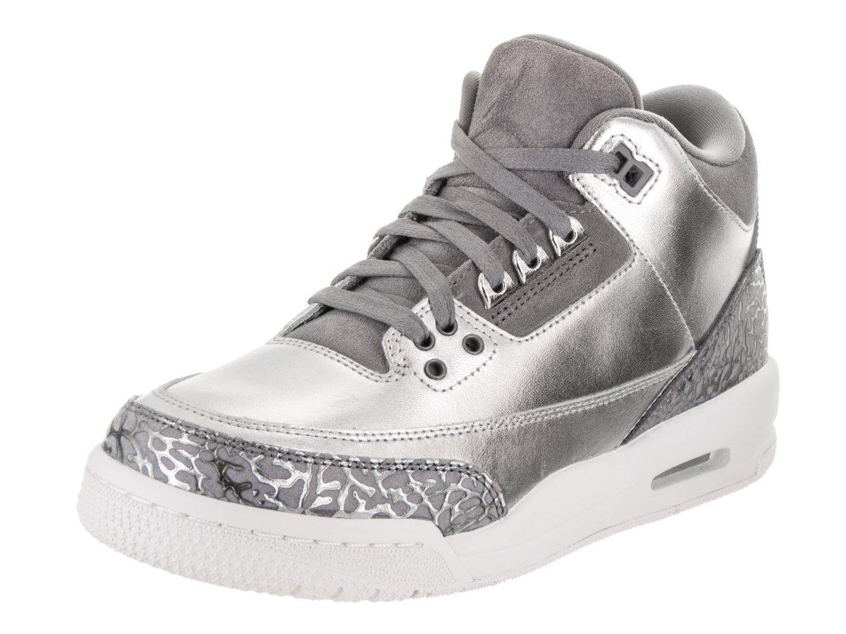 Jordan Nike Women's Air 3 Retro Prem HC Metallic/Silver/Cool/Grey Basketball Shoe 9 Women US by Jordan