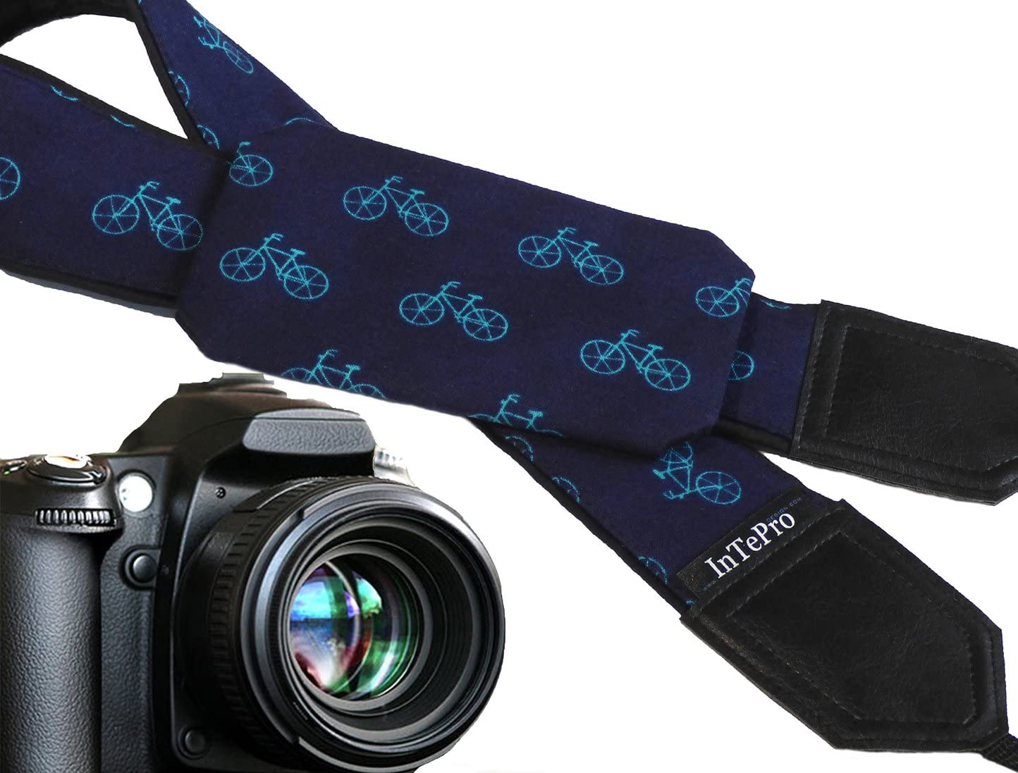 Dark Blue Camera Accessory with Pocket Teal Bicycles Pocket Camera Strap with Bikes Code 00340 Gifts for Men Camera Gear for him