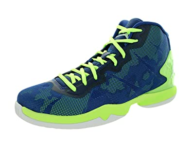 3a8073823eb0 Amazon.com | Jordan Nike Men's Air Super.Fly 4 Blue/Ghost Green ...