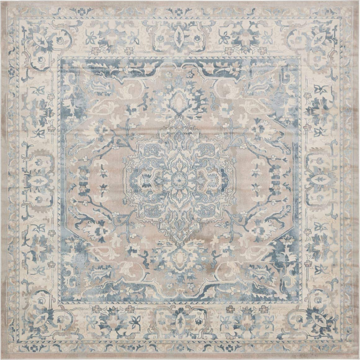 Unique Loom Narenj Collection Classic Traditional Medallion Textured Navy Blue Area Rug 5 0 x 8 0