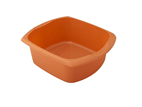 Addis Rectangular Washing Up Bowl, Orange, 9.5 Litre