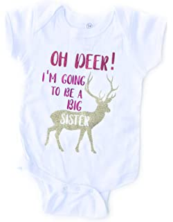 4d1811c3e Amazon.com: cute & funny Oh Deer, I'm Going to Be A Big Sister ...