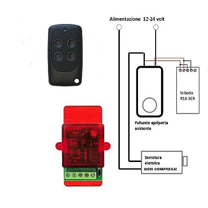 Kit de apertura automática con mando a distancia para abrir puertas con cerradura eléctrica, de