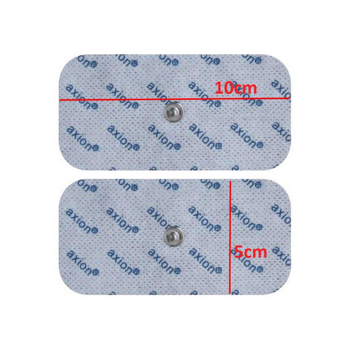 qualit/à axion 12 Elettrodi dispositivi BEURER SANITAS Pads TENS EMS 10X5CM Attacco universale a bottone da 3.5mm
