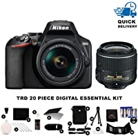 Nikon D3500 24.2MP DSLR Camera + AF-P DX 18-55mm + TRD ® 20 Piece Digital Essential Kit