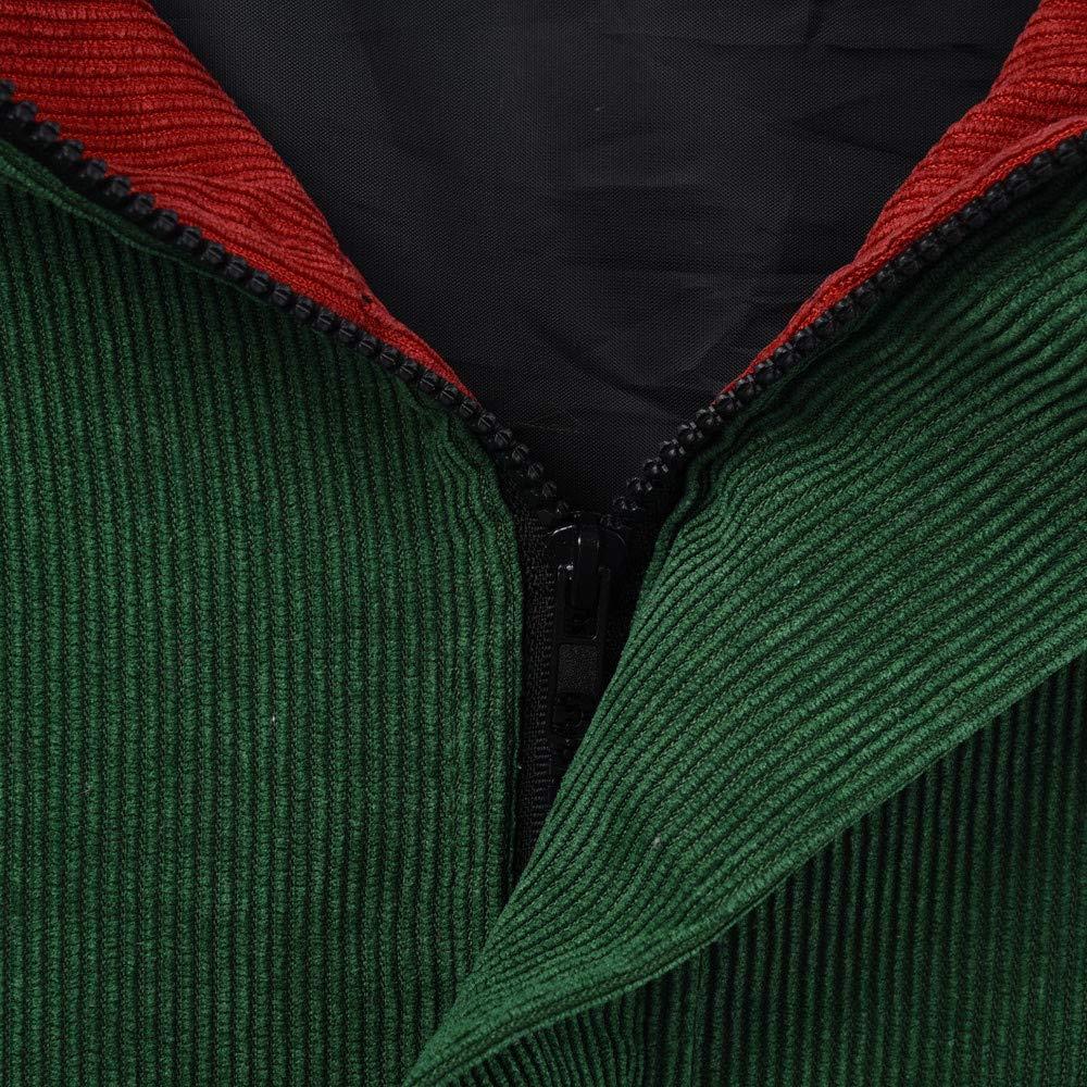 Femmes /à Manches Longues en Velours c/ôtel/é Patchwork Veste Oversize Manteau Coupe-Vent FNKDOR Sweatshirt Femme