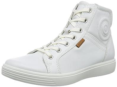 Ecco S7 Teen, Sneakers Hautes Mixte enfant, Blanc (1007White), 33 EU