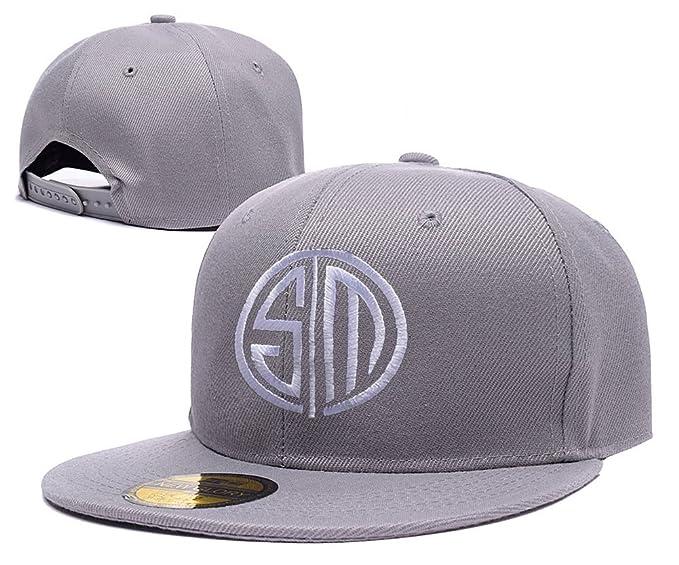 894167f139f6e XINMEN Team Solo Mid TSM Team Logo Adjustable Snapback Caps Embroidery Hats  - Grey