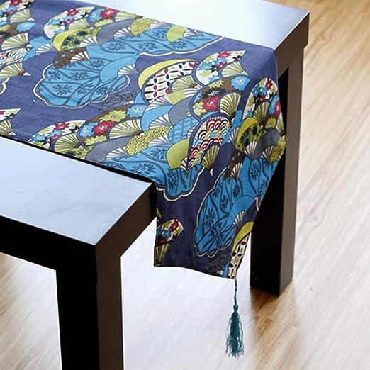 Yazi étnicos estilo Hit Color camino de mesa lino y algodón mantel ...
