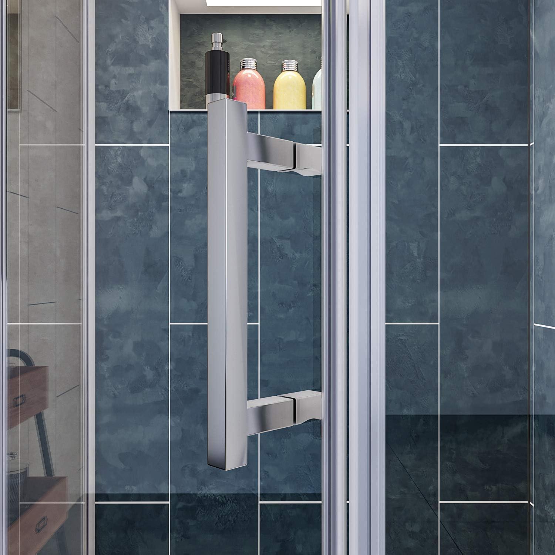 Elegante duchas A33 Neo ángulo esquina semi-frameless Pivot para ...