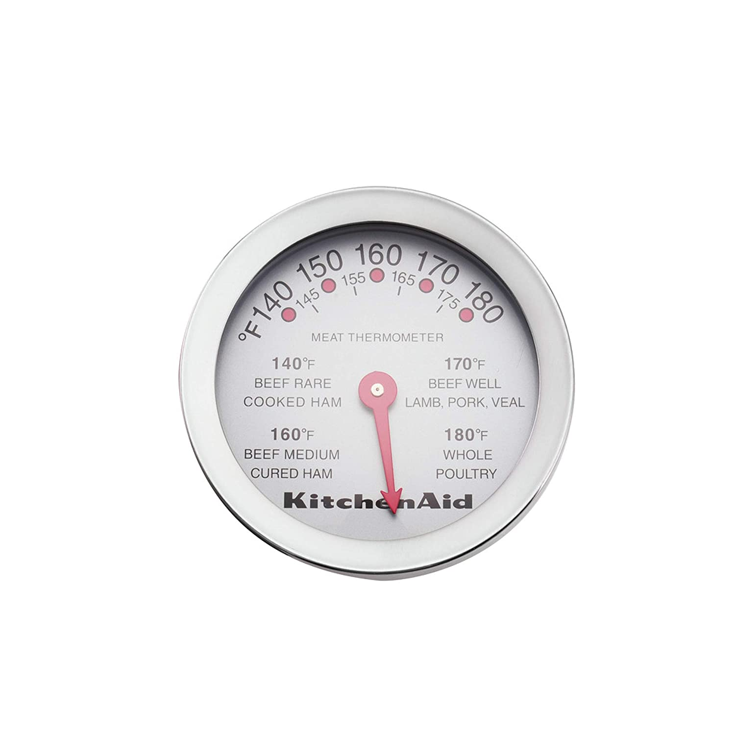 KitchenAid KO122OHSSA Gourmet Meat Thermometer 4-Inch Stainless Steel